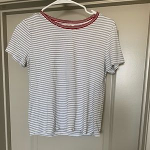 Cute black/ red striped t-shirt